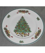 Set (2) Johnson Brothers VICTORIAN CHRISTMAS PATTERN Dinner Plates ENGLAND  - $39.59