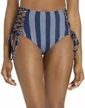 Splendid Women's High Waist Swimsuit Bikini Bottom, Long Lines, Blue, Si... - £40.20 GBP