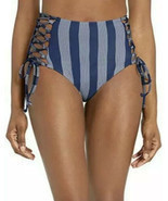 Splendid Women's High Waist Swimsuit Bikini Bottom, Long Lines, Blue, Si... - $56.11