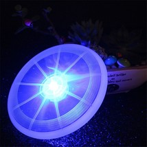 Pet Dog LED Frisbee Light Up Flying Disc Outdoor Night Colorful Fun Disk... - $42.82 CAD