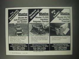 1990 Olathe Ad - 84 Self-Propelled Slit Seeder, 71/831 Aerator/Polymer Planter - $14.99
