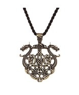 HAQUIL Dragon Necklace Viking Metal Double Dragon Pendant Necklace for M... - $12.21