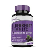 Elderberry Gummies 60 Pieces - Premium Formula - All-Natural Ingredients - Immun - $9.39
