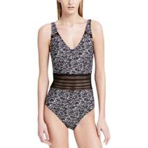 Calvin Klein Women's Sea Glass Printed Mesh-Inset One-Piece Swimsuit Siz... - $58.99