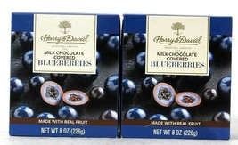2 Boxes Harry & David 8 Oz Milk Chocolate Covered Real Fruit Blueberries... - $28.99