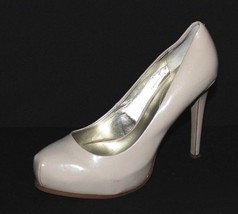 Guess women's shoes pump high upper leather beige stilettos very heel size 9M - $18.47