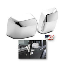Chrome Side Rear View Mirror Cover Trim Protector PR For 2007-2018 Jeep Wrangler - $22.95