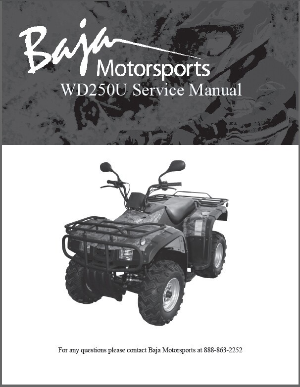 Baja Wilderness Trail 250 ( WD250U ) Service Repair & Parts Manual on a CD