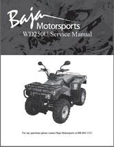 Baja Wilderness Trail 250 ( WD250U ) Service Repair & Parts Manual on a CD - $12.00