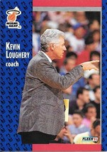 Kevin Loughery ~ 1991-92 Fleer #110 ~ Heat - $0.05