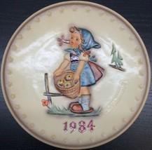 """Goebel - M.J. Hummel 1984 14th Annual Plate In Bas Relief, """"Little Helper"""" - $21.77"""