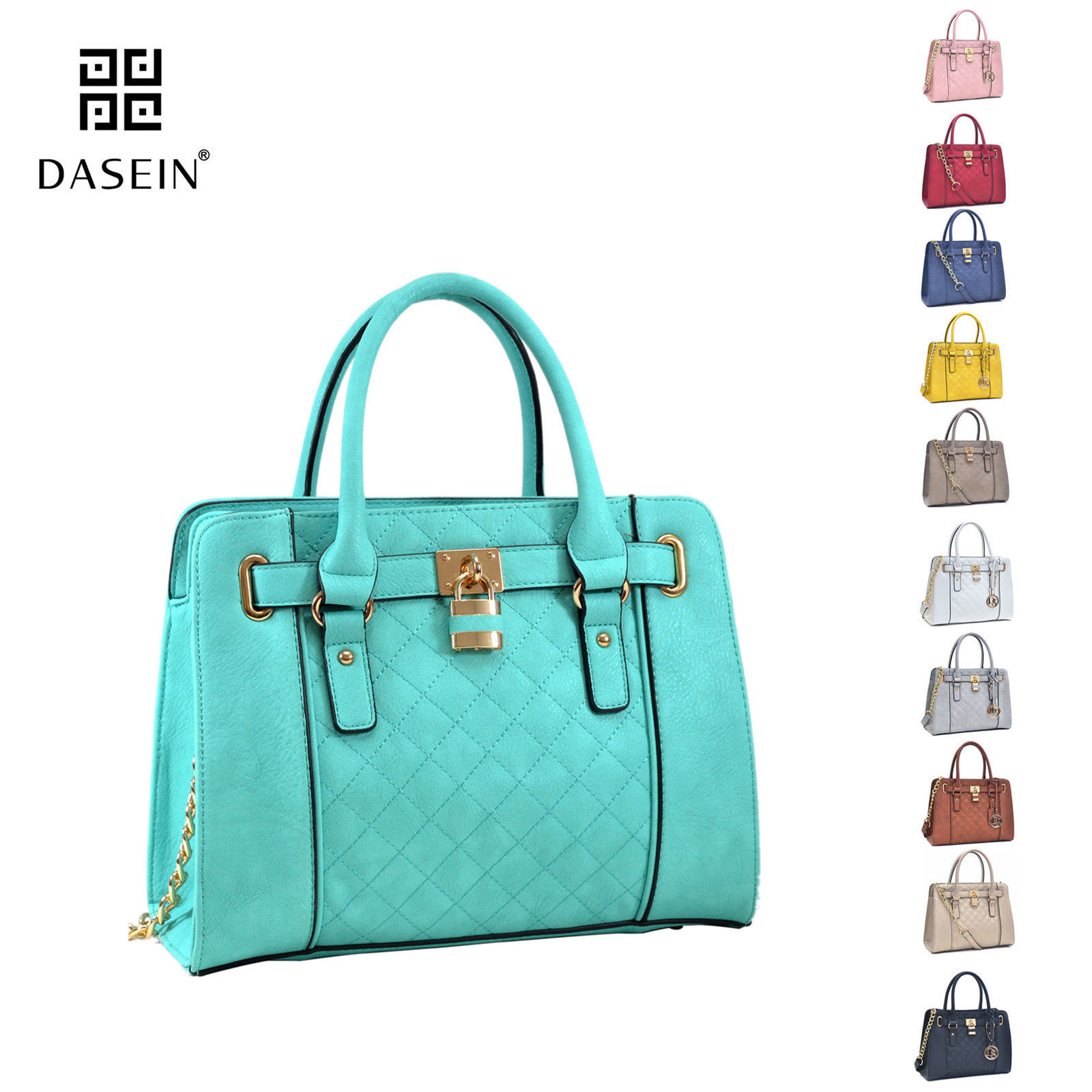 New Womens Handbags Leather Satchel Tote Bags Shoulder Bag Padlock Medium Purse 28 99