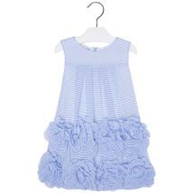 Mayoral Little Girls 2T-9 Stripe Chiffon Bonaz Rosette Border Social Dress - $46.90