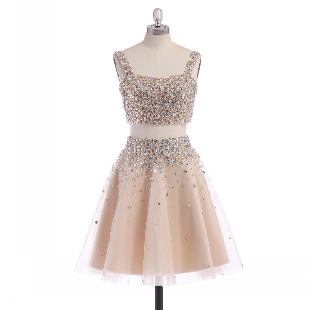 Champagne crystal homecoming font b dresses b font font b dillards b font spaghetti straps knee