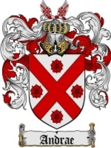 Andrae Family Crest / Coat of Arms JPG or PDF Image Download - $6.99