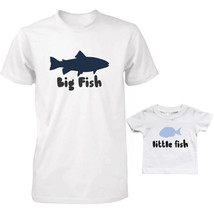 Big Fish and Little Fish Dad and Baby Matching Tees Parent and Kid Cute ... - $34.99+