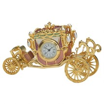 Baroque Roman Numeral Clock Jeweled Cinderella Carriage Trinket Containe... - $87.07