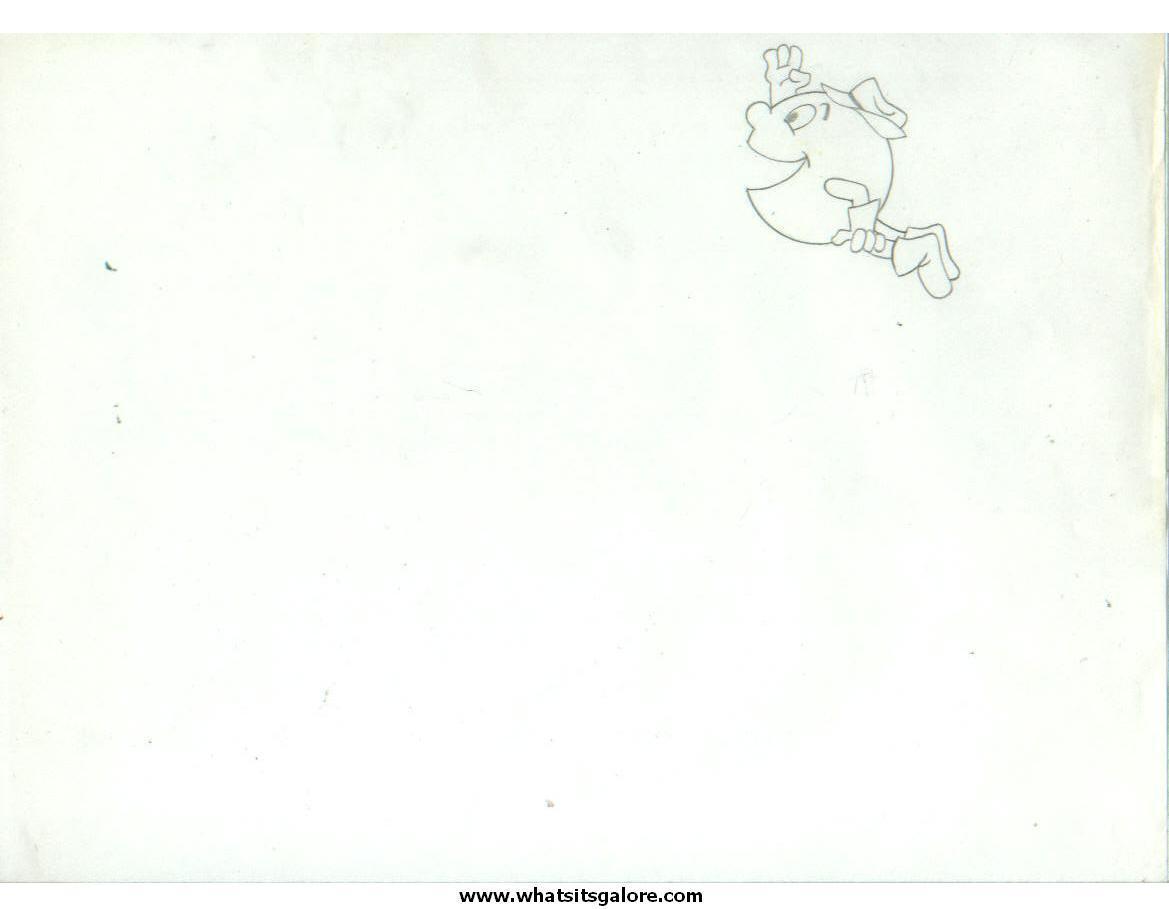 Hanna-Barbera PAC-MAN cartoon animation cel + production drawing
