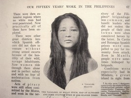 1914 article Our fifteen Years work in the Philippines 30 pages 44 illus... - $12.55