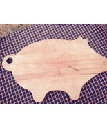 "Vintage Wooden Cutting Board Pig Hog Primitive Country Decor 17x 8 3/4"" ... - $21.77"