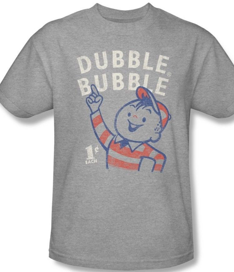Dubble Bubble T-shirt retro 80's candy cotton distressed logo graphic tee dbl105
