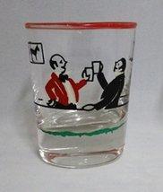 Libbey Deco Shot Glass w/Bar Scene - $19.49