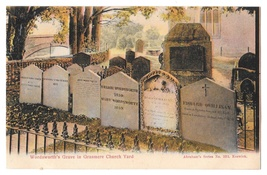 UK Wordsworths Grave Grasmere Church Yard Abraham's Series Color Postcard - $6.69