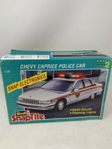 Revell 6293 SnapTite Chevy Caprice Police Car- Model Kit  1/25 Open Box - $19.34
