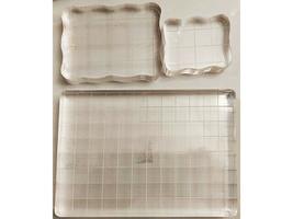 Set of 3 Acrylic Stamping Blocks