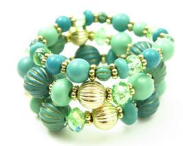 Turquoise Aqua Mint Ocean View Beaded Layered Bracelet Set - $27.00