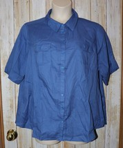 Womens Blue JMS Just My Size Short Sleeve Shirt Size 3X 22W 24W excellent - $6.92