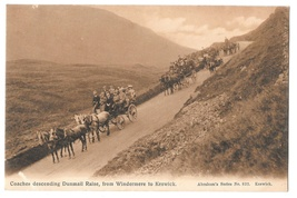 UK Coaches Descending Dunmail Raise Windermere Keswick Abraham's Series ... - $6.69