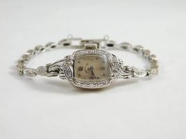 Ladies 14k White Gold Antique Lady Elgin Diamon... - $1,275.00