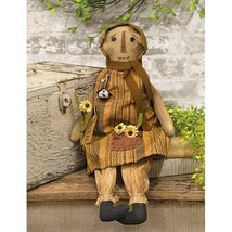 Delilah Doll - Primitive Tea Stained Fabric Cloth Girl Doll  - $55.99