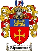 Primary image for Chaunceur Family Crest / Coat of Arms JPG or PDF Image Download