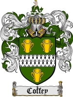 Primary image for Coffey Family Crest / Coat of Arms JPG or PDF Image Download