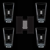 Uscg Collar Auxiliary National Level Aide 4 Glass Set - $42.99