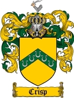 Primary image for Crisp Family Crest / Coat of Arms JPG or PDF Image Download