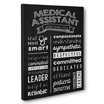 Personalized Medical Assistant Wall Art Canvas Gallery Wrap - Graduation... - $25.71