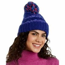 Chenille Striped Multi-Pom Beanie Hat (Cobalt) INC - $10.75