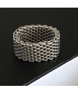 Tiffany & Co Silver Somerset Mesh Ring Size 9 - $189.00