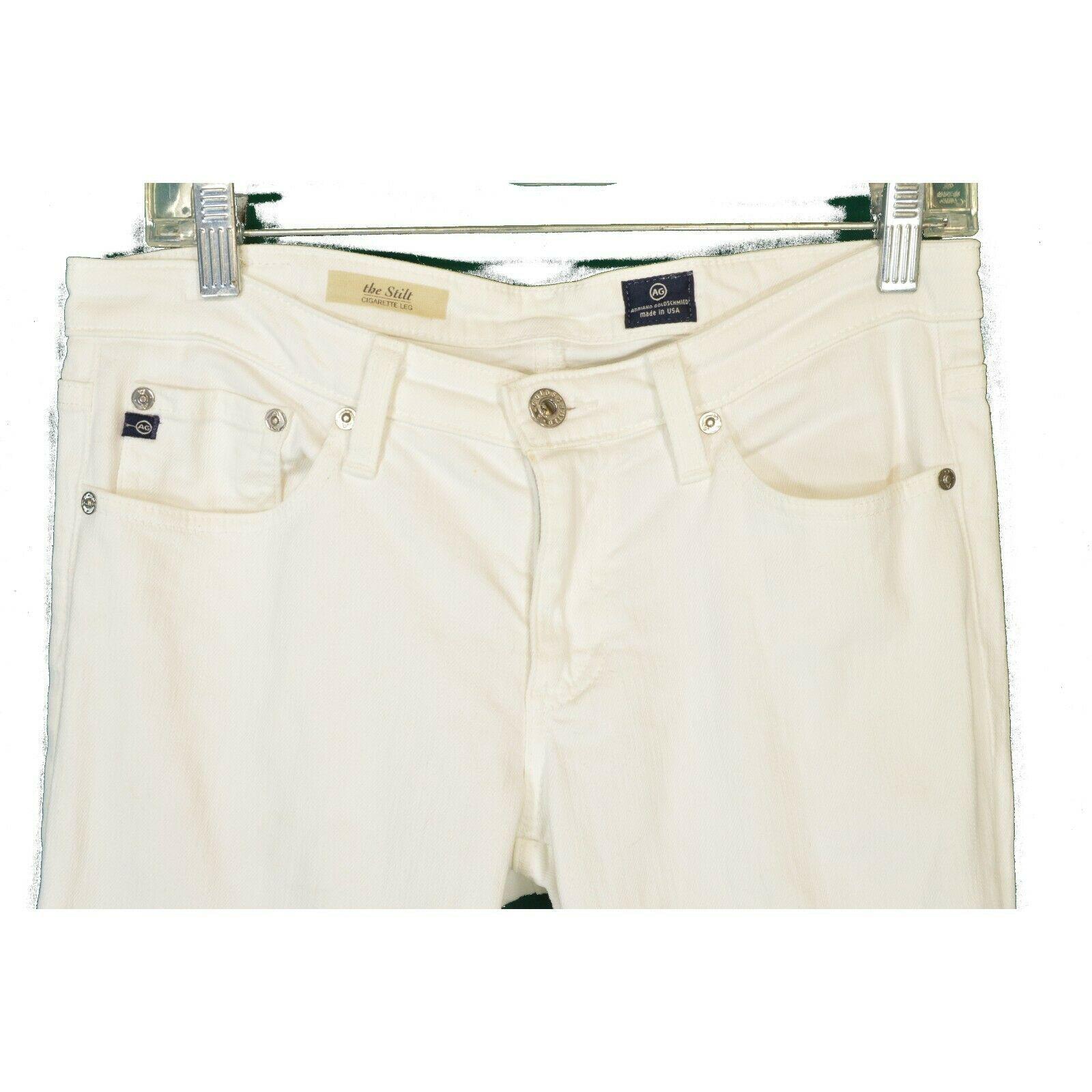 AG Adriano Goldschmied jeans 29 x 31 Stilt cigarette leg White thick EUCUSA image 3