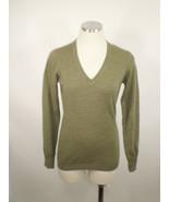 Brunella Gori Sz Sm SoftGreen V-Neck Sweater Extra Fine Merino Wool - $9.89