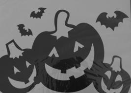 Halloween Pumpkins Window Wall Decals Clings Jumbo Black - $15.28