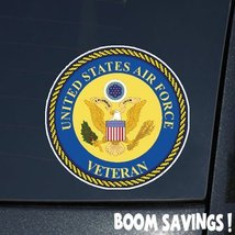 "Air Force USAF Veteran with Great Seal 6"" Decal Sticker - $4.99"