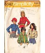 1972 SHORT JACKET Pattern 5342-s Size 10 -  UNCUT - $9.99
