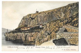 Gibraltar Europa Point Vintage Postcard V B Cumbo Tinted Color 1908 - $4.99