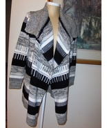 Nema Avenue Black & White Cardigan Sweater Womens 1X Size 18-22 - $37.99