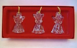 Angels Set of 3 Crystal Gorham 1831 Gold Tassel Boxed Christmas Tree Orn... - $20.00