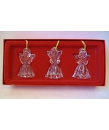 Angels Set of 3 Crystal Gorham 1831 Gold Tassel Boxed Christmas Tree Orn... - $20.00